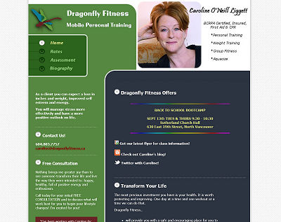 Dragonfly Fitness Website